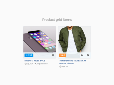 Product grid items