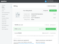 Billing page explorations