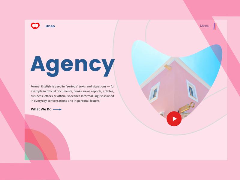 Agency Homepage uiux color design header coloful ui web agency website homepage agency