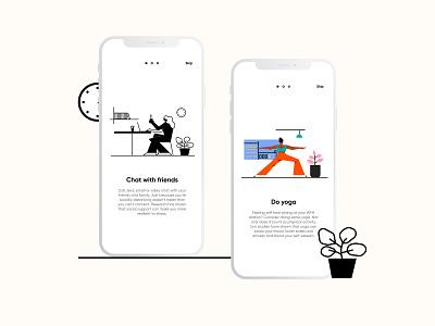 Illustration KIT minimalillustration uiillustration illustration design stayhome mobile mobile ui ui web art covid19 covid-19 digital designer minimal graphic illustration design