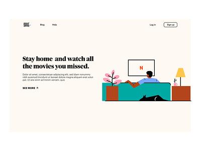 Stay Home Stay Safe graphicdesigner website web ui digital designer minimal graphic illustration design
