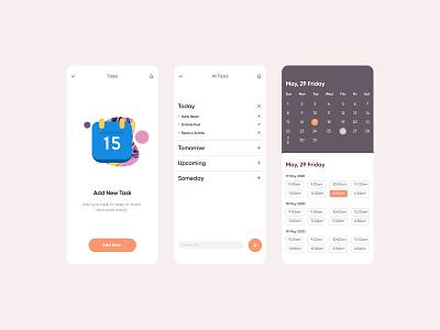 Calendar Application ux mobile app mobile mobile ui application design application ui ui digital designer minimal graphic illustration design
