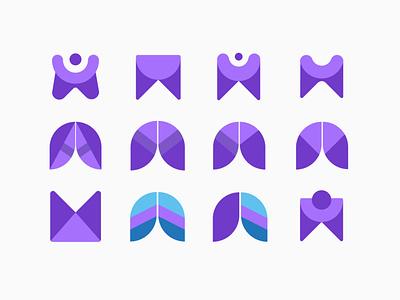 Logo Concepts typography logo website illustrationartist web ui digital designer graphic minimal illustration design