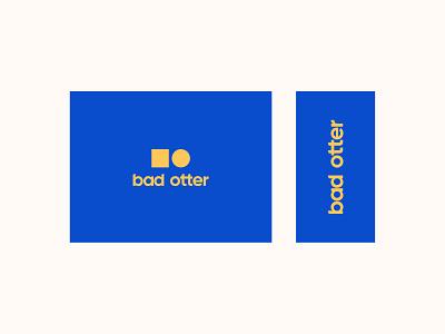 Bad Otter Logo company digitallogo minimalist logo contrast blue logodesign logotype identity branding identitydesign identity brand vector branding logo digital graphic minimal design