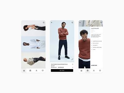 ZARA APP Re-Design uidesign uiux application app design app clean design clean ui mobile app design mobile design mobile app mobile ui mobile fashion brand fashion app fashion ux branding ui minimal design