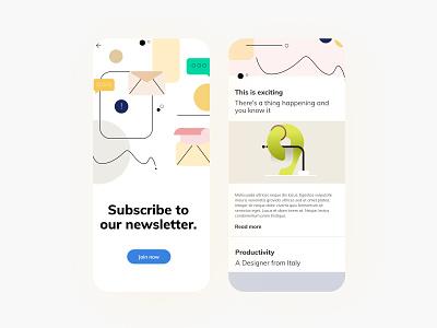 Element Pack subscription subscribe news app newsletter mobile design mobile ui app design app illustrator illustrations illustraion vector ux ui digital designer graphic minimal illustration design