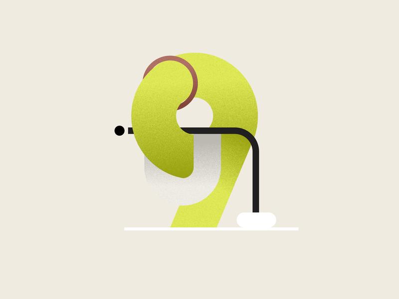 Nine art illustrationartist typography vector designer minimal graphic illustration design