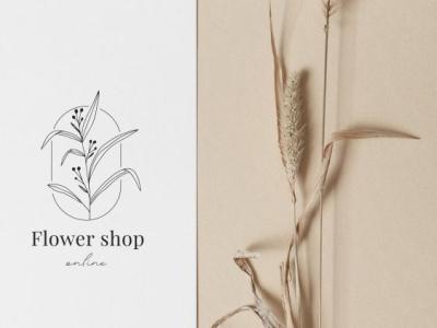 Logo for flower shop designs icon illustration type minimal vector lettering logo typography design