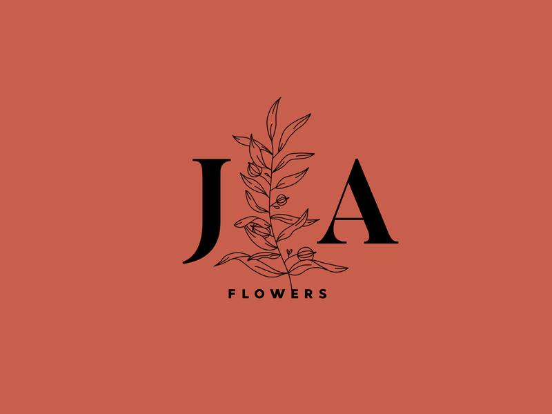 JA logo branding type illustration typography logo vector design