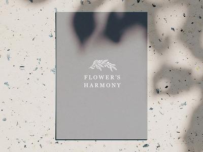 Flower's Harmony logo vector minimal illustration logo lettering typography design