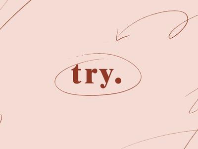 Try logo identity minimal logo branding vector typography design
