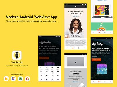 WebDroid - Convert Website to App converter ui app