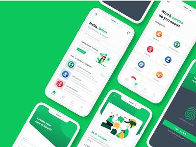 Servo - Mobile Application 1 service appui mobileapp userinterface adobexd uiux figma ui