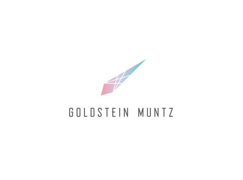 goldstein muntz jewelry shop light diamond facet shape brand vector flat simple typography design branding jewellery logo logo jewelery jewellery jewelry logo jewelry