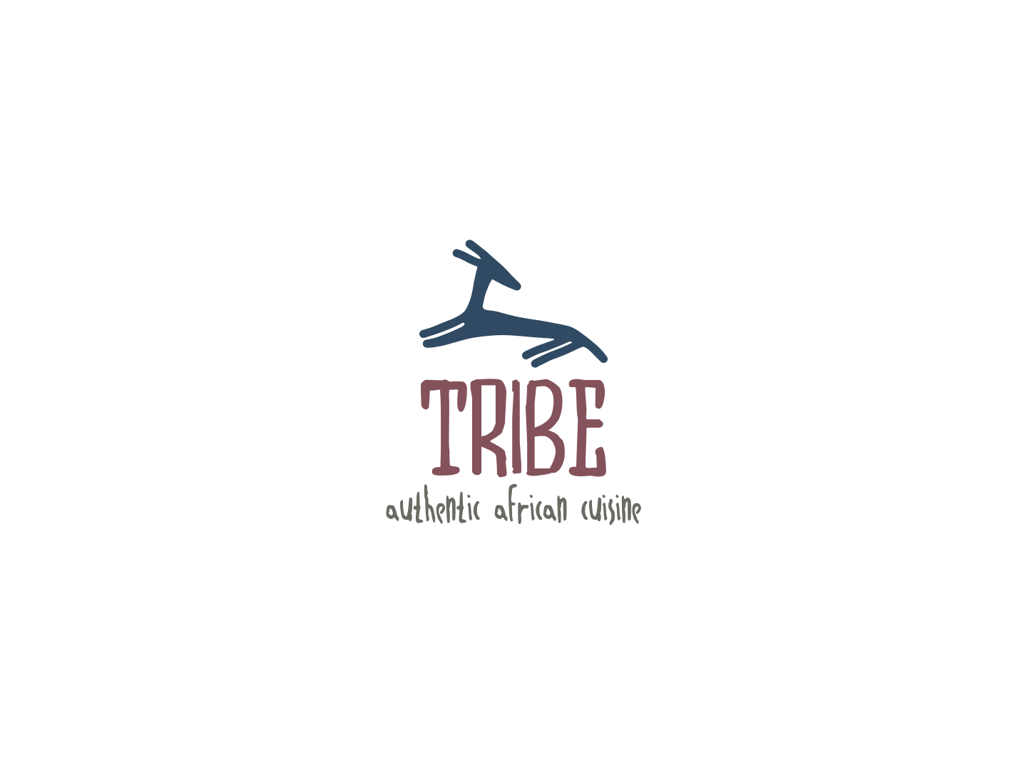 Tribe Restaurant humble cool inviting typograhy mixed fonts animal logos animal stock authentic dining cuisine african restaraunt tribe brand equity brand design branding icon