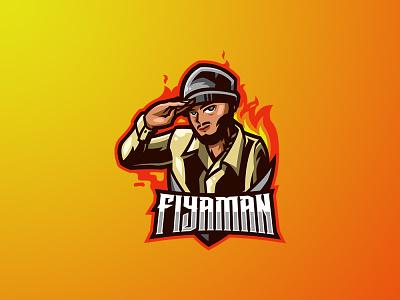 FIYAMAN human custom logo branding logo motion graphics graphic design 3d animation ui