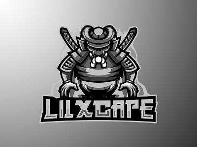 LILXCAPE samurai logo samurai japan branding logo motion graphics graphic design 3d animation ui