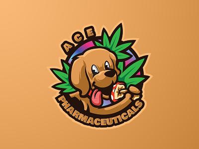ACE PHARMACEUTICALS dog pharma dog logo branding logo motion graphics graphic design 3d animation ui