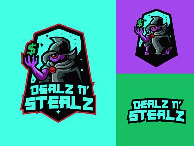 DEALZ N' STEALZ steal deal wizard logo wizard branding logo motion graphics graphic design 3d animation ui