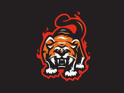 TIGER sports logo esports logo mascot logo tiger branding logo motion graphics graphic design 3d animation ui