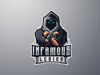 INFAMOUS LEGION logos sports logo esports logo wizard logo wizard legion infamous branding logo motion graphics graphic design 3d animation ui