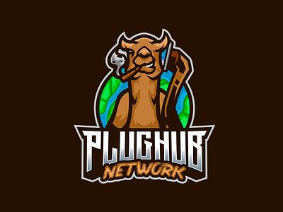 PLUGHUB NETWORK logos animal aniimal logo camel camel logo branding logo motion graphics graphic design 3d animation ui