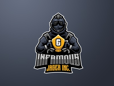 INFAMOUS JAGER INC logos sports logo mascot logo esports logo jager logo jager branding logo motion graphics graphic design 3d animation ui