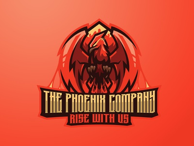 THE PHOENIX COMPANY RISE WITH US animal logo animal phoenix logo phoenix logo design sports logo esports logo eagle logo eagle branding logo motion graphics graphic design 3d animation ui
