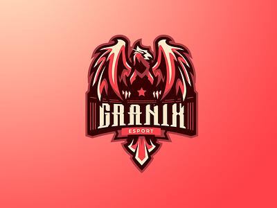 GRANIX ESPORT phoenix logo sports logo esports logo logos eagle logo phoenix branding logo motion graphics graphic design 3d animation ui