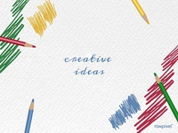 Colorful pencil scribbles on a paper vector