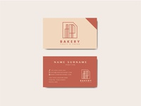 Coffee shop business card template vector