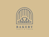Fresh bakery pastry shop logo vector