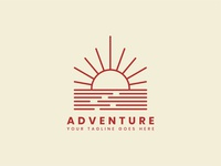 Outdoor adventure logo badge template