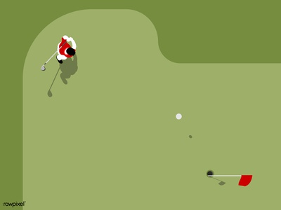 Aerial view of a golf coourse