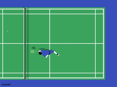 Aerial-view-badminton-court