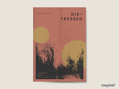 Grunge Black Distressed Textured Poster