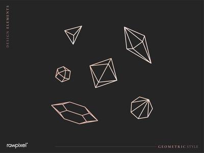 Geometric diamond design collection vector