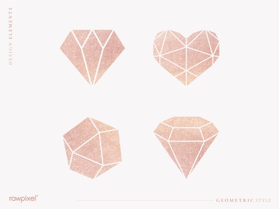 Shimmering geometric design element collection vectors
