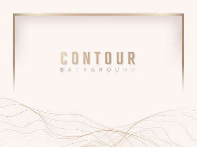 Contour line background frame