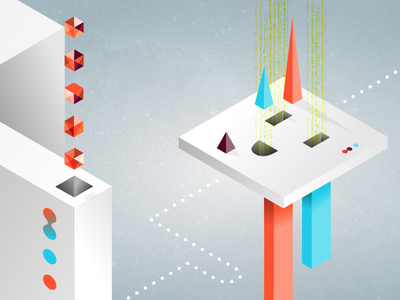 Internet Land KILLED! killed gradient complementary internet web opengl isometric style frame