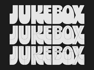 Testing lettering bevel prism inline font design typography jukebox