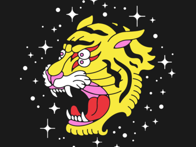 Cosmic Tiger Style now on Cotton Bureau!!