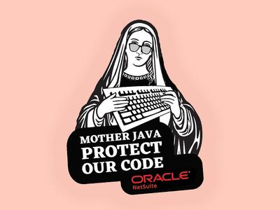 Mother Java netsuite oracle developer java sticker code