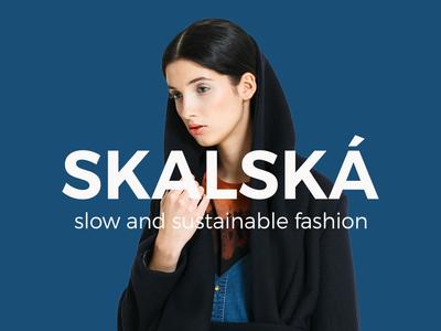 SKALSKÁ slow and sustainable fashion skalska sustainable visual  identity logo branding fashion slow