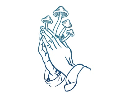 Jesus was a mushroom! filipaura trippy illustration psychedelic psilocybin magic mushrooms