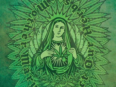 Mary psychedelic hemp 420 canabis weed