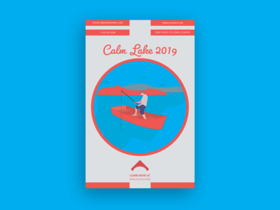 Calm Lake Flyer Template
