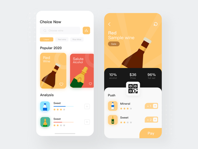 Tavern shop App typography illustrator brand taver ui design