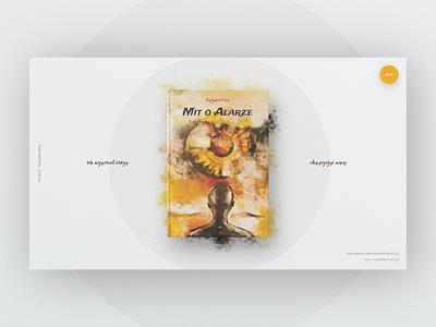 Mit o Alarze landingpage book cover promotion book ui webdesign web layout design