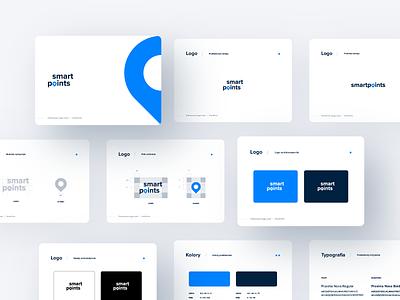 SmartPoints Brandbook logistics company brand design brand elogistics logotype key visual brandbook brand identity icon typography logo vector branding design